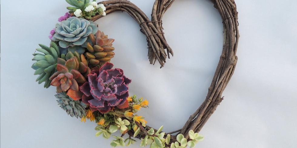 Sip + Craft: Succulent Wreath