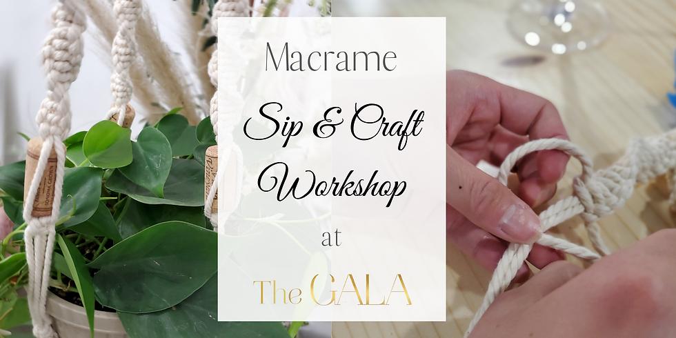 Sip & Craft Workshop - Macrame Plant Hangers