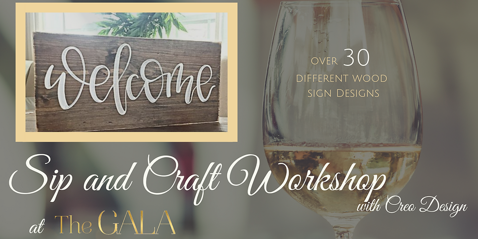 Wood Sign Workshop at The GALA