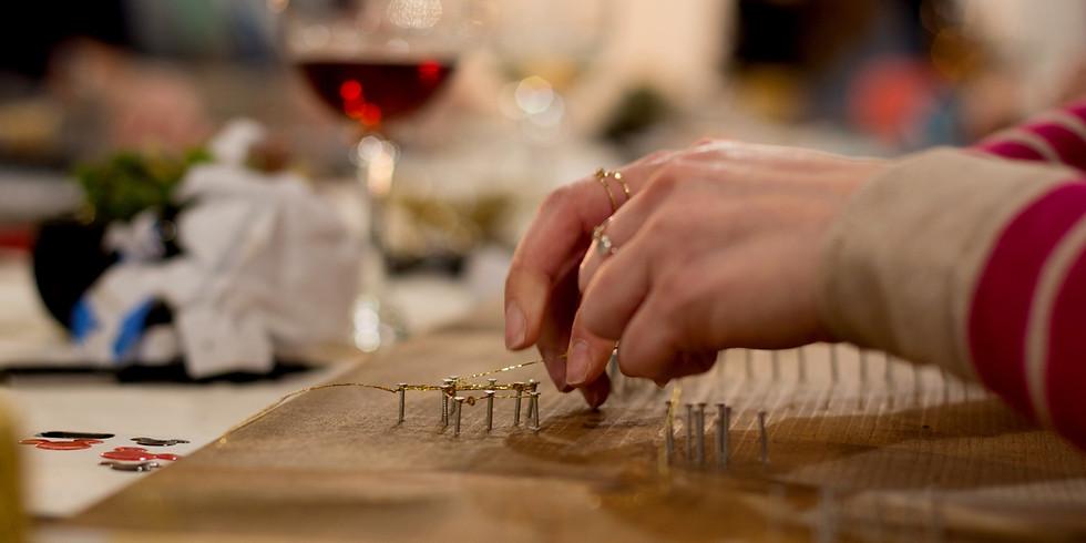Wine+Craft: Wine Tasting & String Art