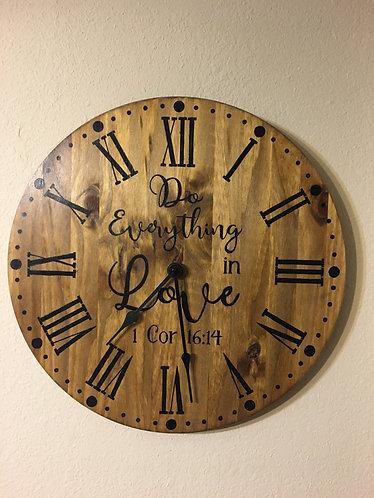 "18"" Everything in Love - DIY Clock Kit"