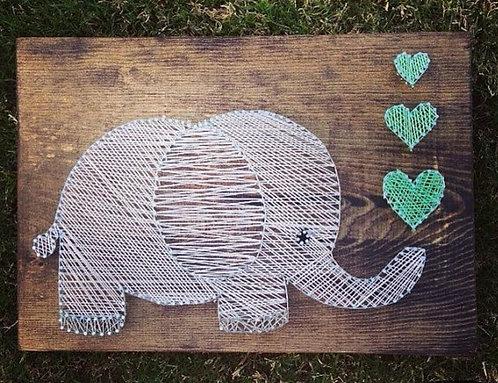 Elephant String Art Kit