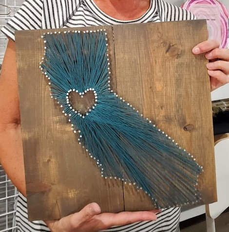 California (Medium) String Art Kit