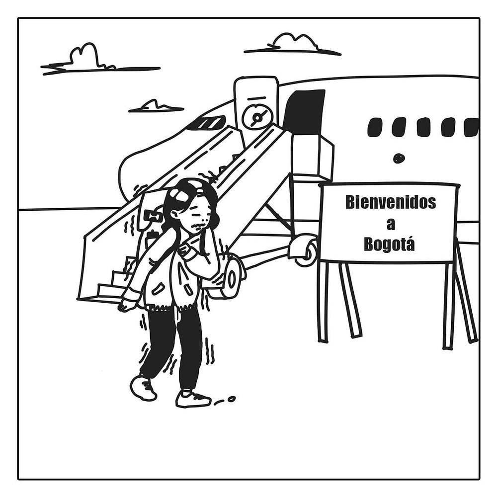 Landing di Bogota, Kolombia (c) Arakita Rimbayana BuLiBi Bukan Liburan Biasa