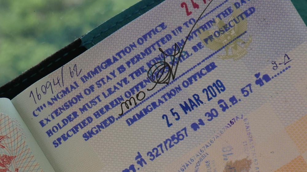 Visa Thailand yang sudah diperpanjang (c) Arakita Rimbayana