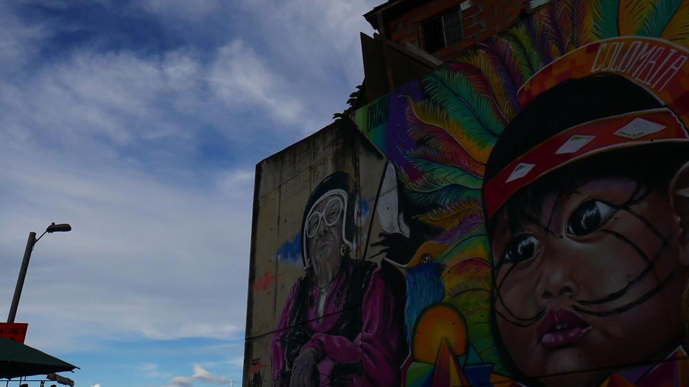 Grafiti, bentuk seni jalanan di Comuna 13 (c) Arakita Rimbayana BuLiBi Bukan Liburan Biasa