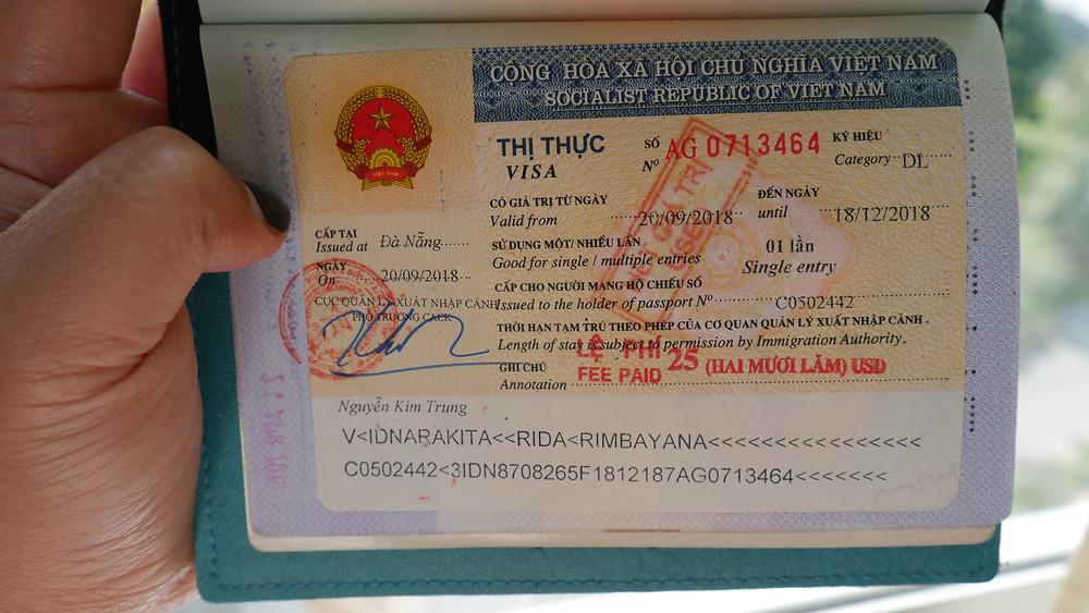 Vietnam Tourist Visa (c) Arakita Rimbayana
