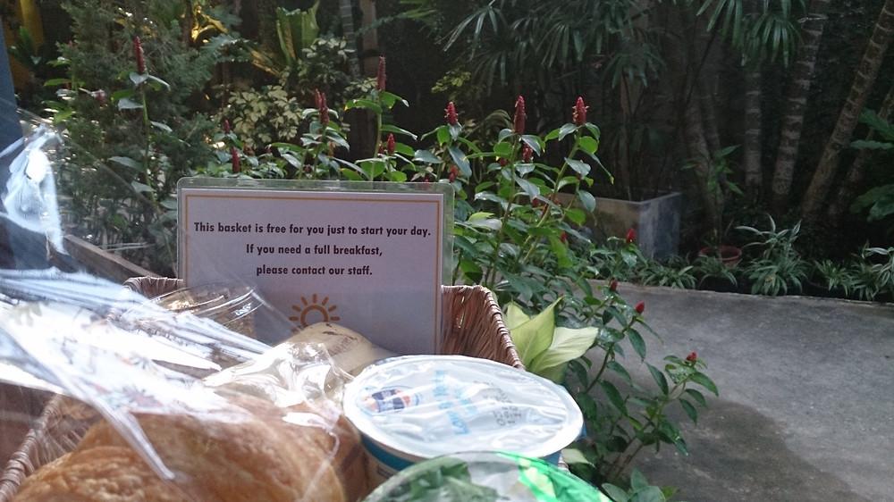 Sarapan gratis yang dikirim di hari sebelumnya (c) Arakita Rimbayana bulibi bukan liburan biasa Thailand