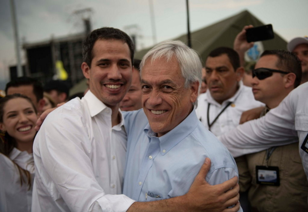 Presiden Chile (kanan) Sebastian Pinera (Wikipedia)