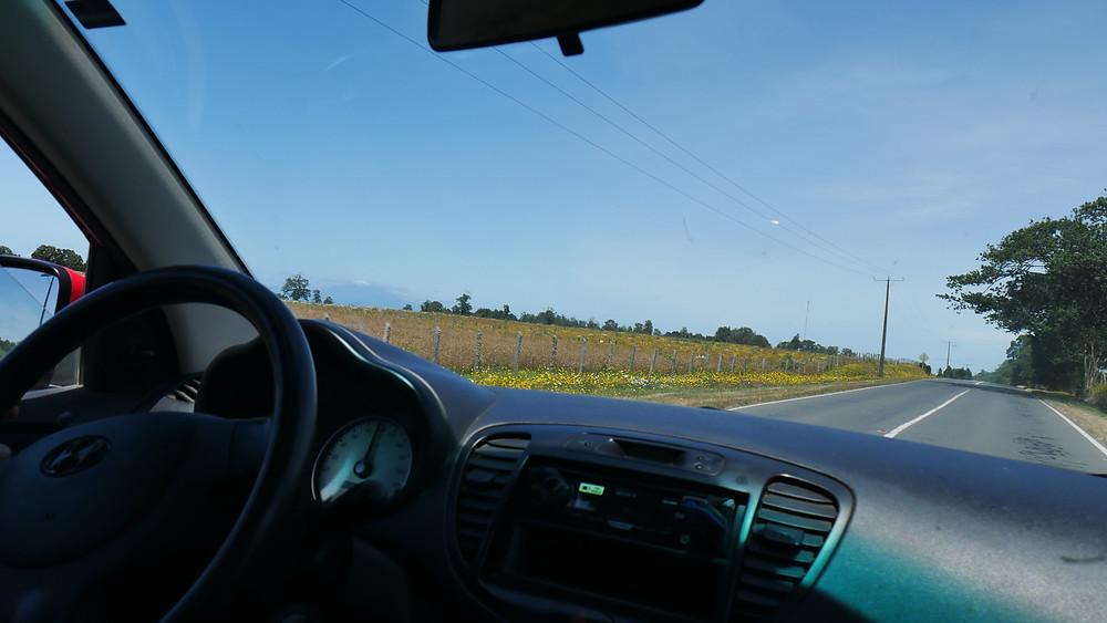 Suasana jalan di Chile selata (c) Arakita Rimbayana