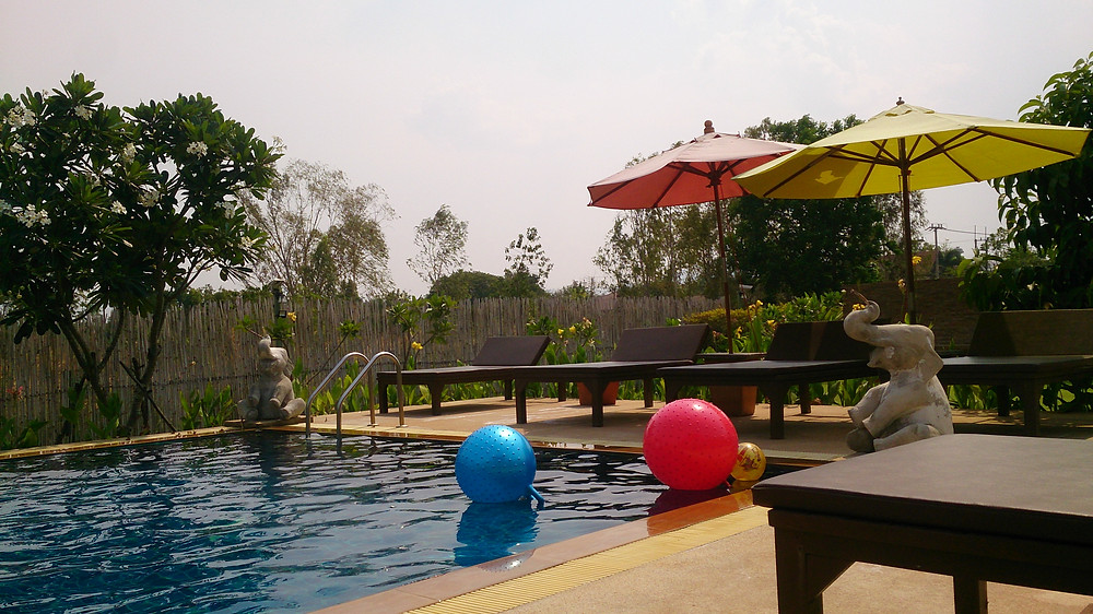 Kolam renang Sawasdee Resort Sukhothai Thailand (c) Arakita Rimbayana