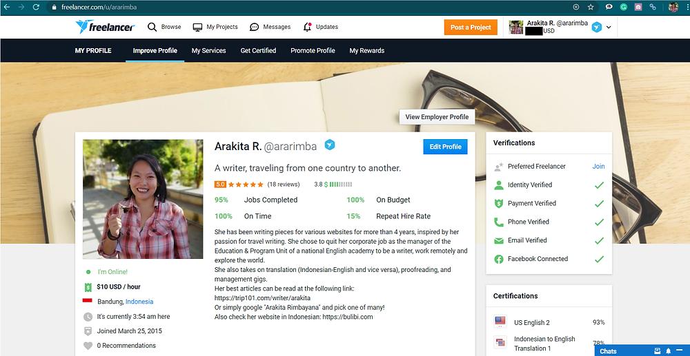 Freelancer, salah satu platform untuk cari kerjaan freelance