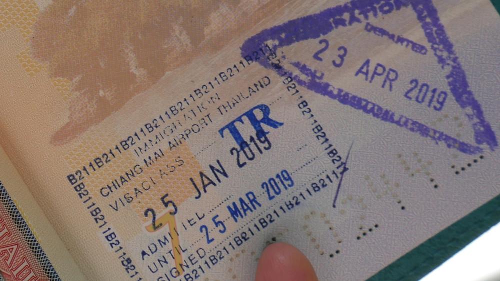 Cap izin masuk Thailand yang tim BuLiBi dapat di Bandara (c) Arakita Rimbayana