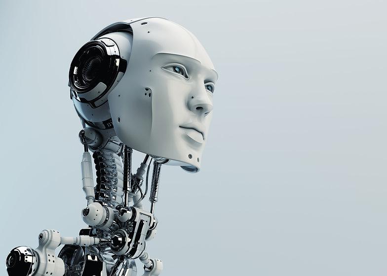 Stylish handsome cyborg head in profile _ Futuristic man.jpg