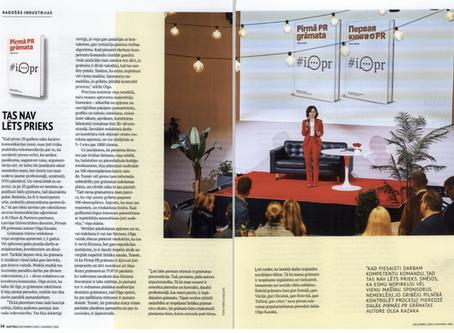"""Business magazine about """"Pirmā PR grāmata"""""""