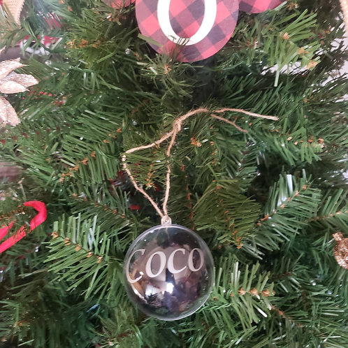 Coco Christmas - Fillable Personalized Ornament (Limited Time)