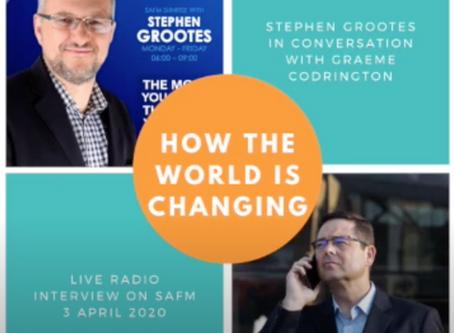 Radio interview: Stephen Grootes on SAFM