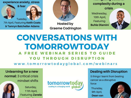 Free webinars from the TomorrowToday team