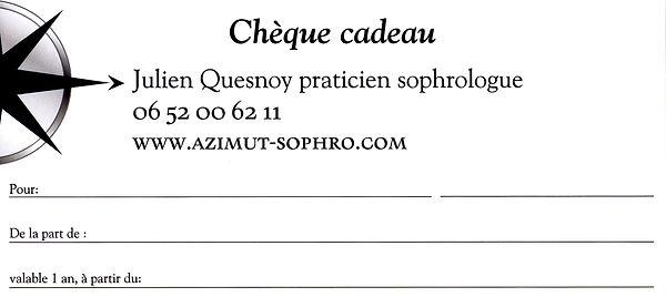 Chèque cadeau Julien Quesnoy praticien sophrologue