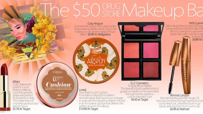 The $50 Drugstore Makeup Bag