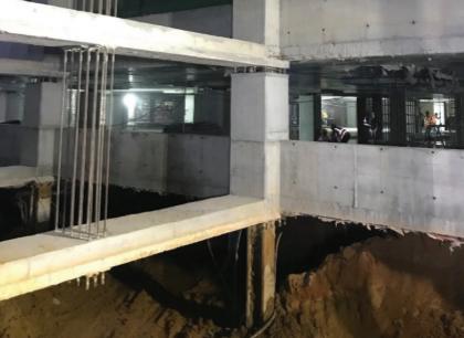 Deep basement excavation level B4