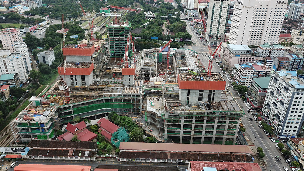 Yoma Central site bird's-eye view, West