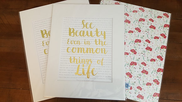See the Beauty Print - Gold Foil