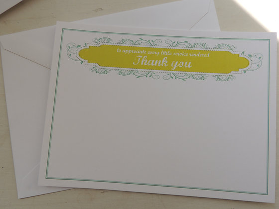 Symphony thank you cards