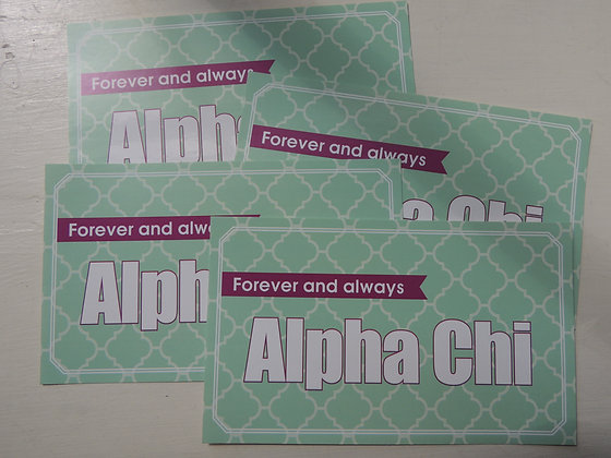 Always Alpha Chi - Mint and Green