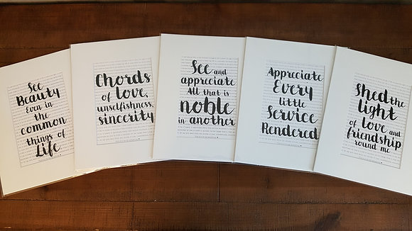 Set of Five Symphony Prints