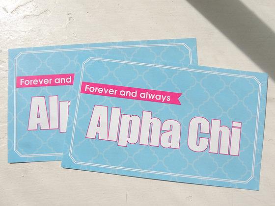 Always Alpha Chi Sticker - Blue and Pink