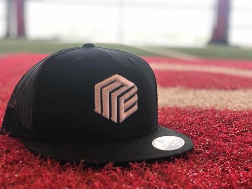 Black Trucker Hat (White Logo)
