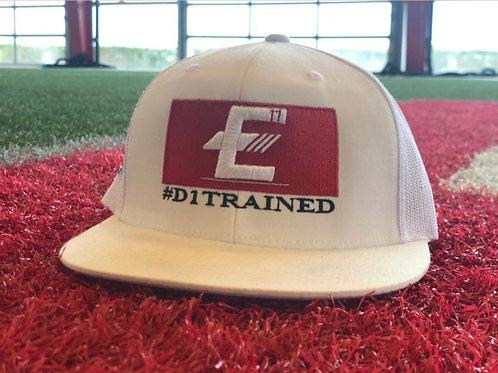 """White """"E"""" Trucker Hat"""