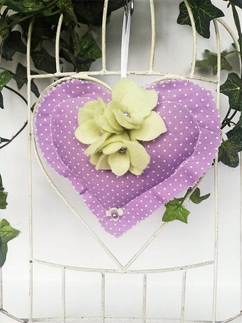 Inimioară cu lavandă 14x14 cm