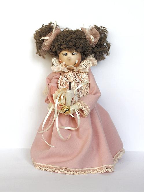 Păpuşă cu lavandă roz 2 modele 30 cm