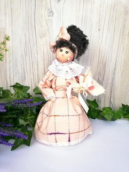 Păpușă handmade cu lavandă 30 cm