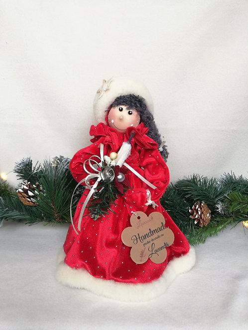 Păpuşă Crăciuniţă umplută cu lavandă 30 cm