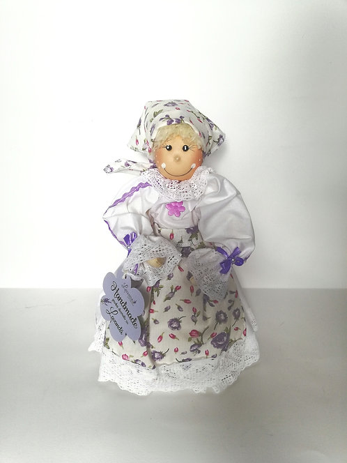 Păpușă model rustic floral dim. 30 cm.