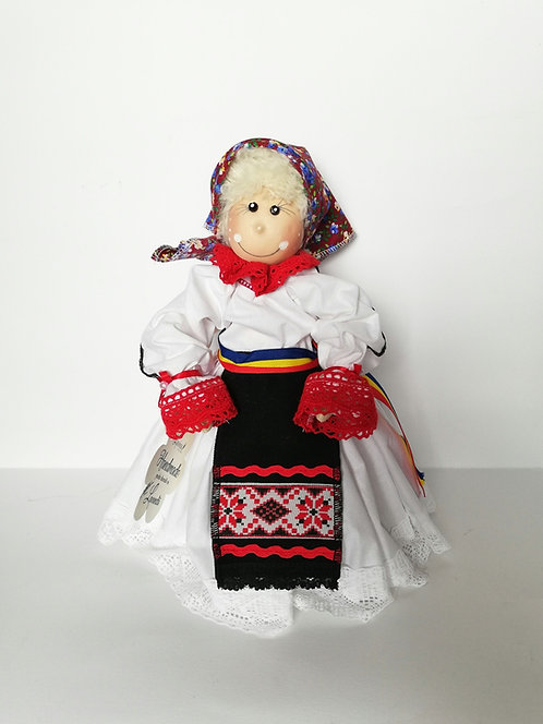 Păpușă cu port tradițional și tricolor dim. 30 cm