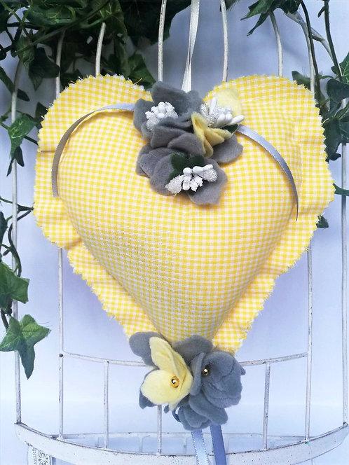 Inimioară cu lavandă 18x13 cm