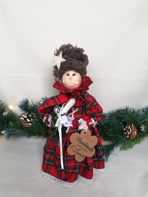 Păpuşă Crăciun umplută cu lavandă 30 cm