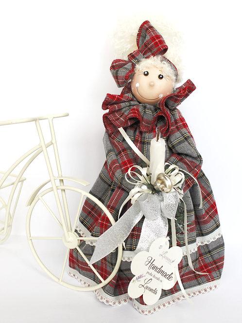 Păpuşă cu lavandă roşu-gri 4 modele 30 cm