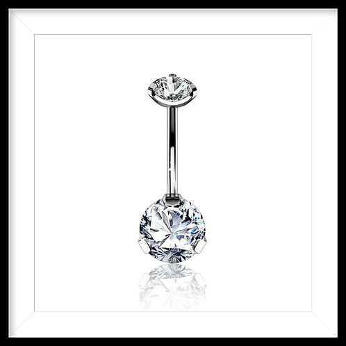 SOLITAIRE DOUBLE CLAW SET JEWELLERY BELLY BAR