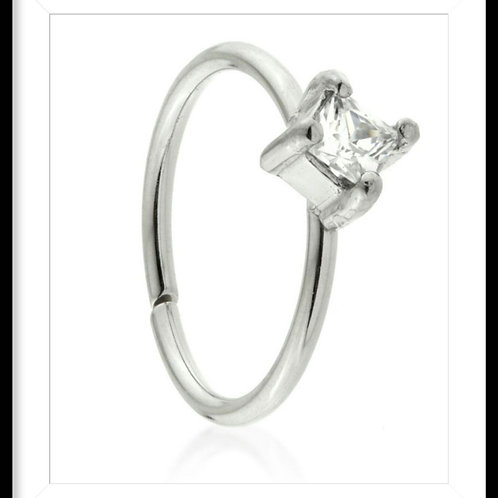 CLAW CRYSTAL SQUARE RING