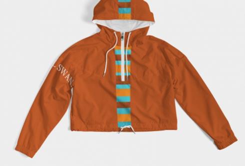 Colorblock Cropped Windbreaker