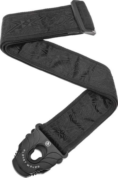 Planet Waves gitaarriem - zwart motief - planet lock