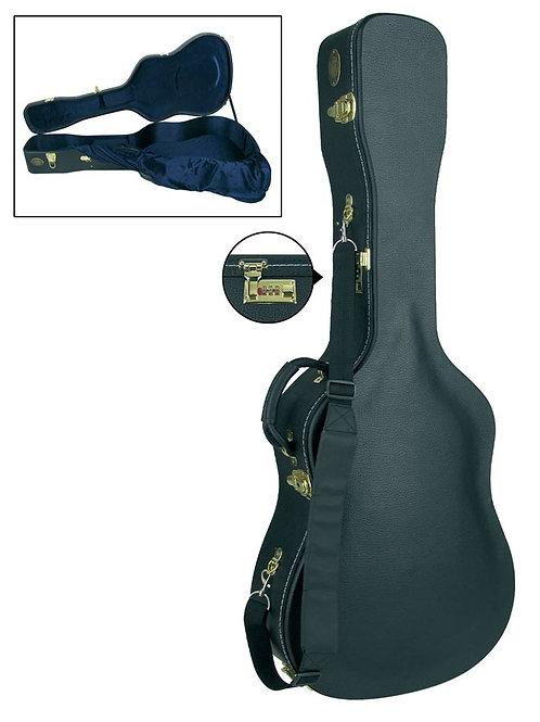 Luxe Houten koffer met slot dreadnought folk of 12-snarige gitaar 4/4