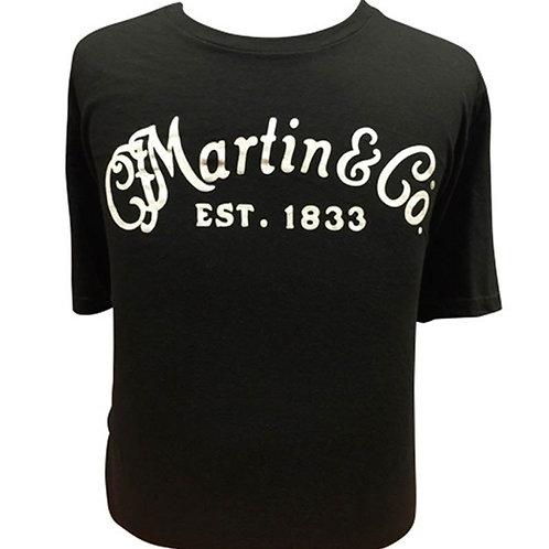 Martin logo t-shirt ZWART