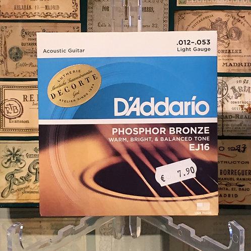 D'addario EJ16 phosphor bronze .012-.053
