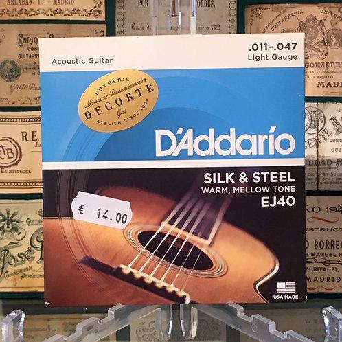 D'addario EJ140 Silk & Steel 11/47